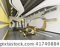 3d rendering modern yellow gym and fitness 41740884