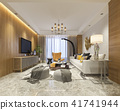 luxury and modern living room with sofa and dining 41741944