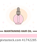 Illustration of maintaining hair oil product.  41742285