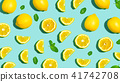 lemon, mint, yellow 41742708