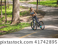 bicycle, woman, sport 41742895