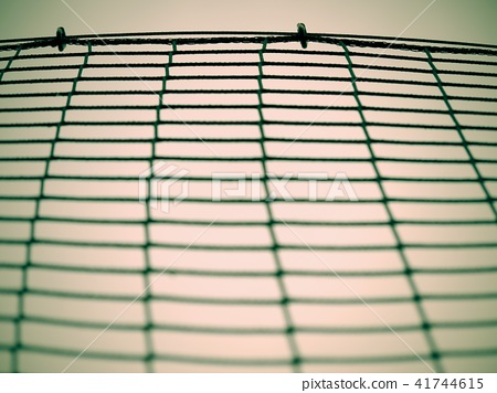 Football gate net with bound strings and knots 41744615