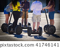 A group of people guided segway tour 41746141