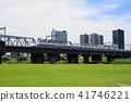 6 월 무사시 코스 53 무사시 코스 고층 빌딩 군 · 신칸센과 타마가와 마리코 다리 녹지 41746221
