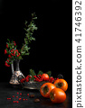 Still Life With Persimmon And Berries 41746392