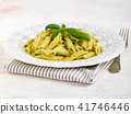 Plate Of Pasta With Pesto 41746446
