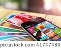 photo smartphone stack 41747480