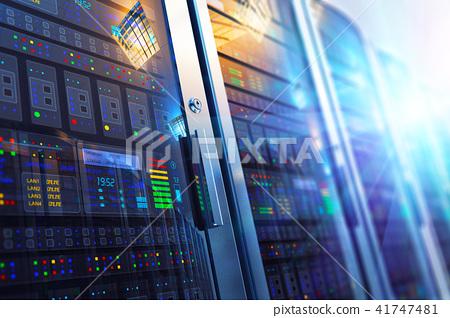 Server room interior in datacenter 41747481