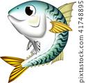 고등어, 벡터, 물고기 41748895