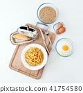 Italian tagliatelle pasta made by hand.  41754580