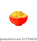 Vector flat potato chips icon 41754838