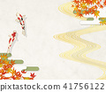Japanese modern autumn leaves 41756122