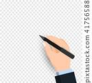 손, 펜, 화이트 보드 41756588