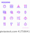 Measuring thin line icons set 41756641