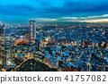 從新宿摩天大樓看的東京夜視圖 41757082