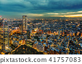 從新宿摩天大樓看的東京夜視圖 41757083