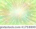 黄緑放射状背景光キラキラ 41758890