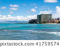 하와이 오아후 섬 와이키키 비치 41759574