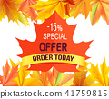 Special Offer - 15 Order Today Promo Advertisement 41759815