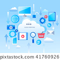 Abstract Infographic for cloud computing services 41760926