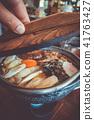 traditional japanese sukiyaki meal 41763427
