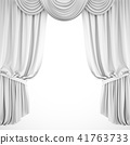 3D rendering white stage curtain on white 41763733