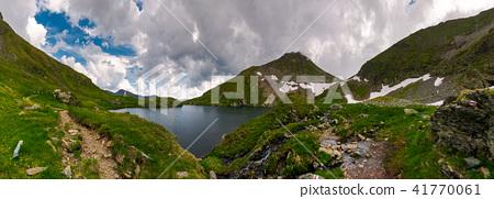 panorama of Capra lake, Romania 41770061