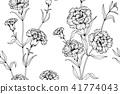Seamless Carnation flower pattern background.  41774043