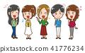 여성, 여자, 세트 41776234