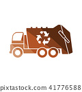 Garbage car recycle icon 41776588