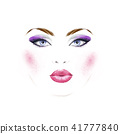 Fashion illustration of woman face with make up 41777840