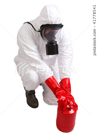 Man in a suit of chemical protection 41778541