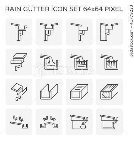 rain gutter icon 41779223