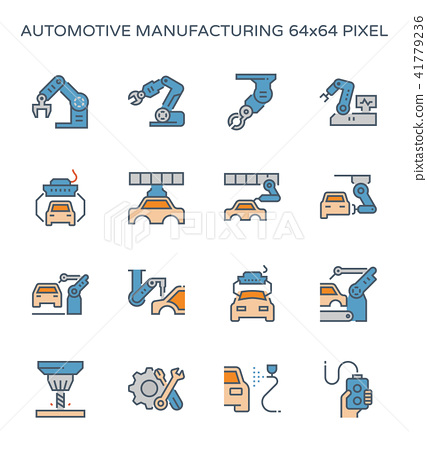 automotive manufacturing icon 41779236