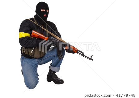 gunman with AK 47 41779749