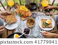 breakfast, bread, food 41779941