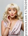 beautiful girl in pink dress 41780264