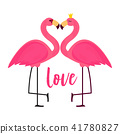 flamingo love pink 41780827