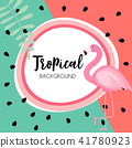 flamingo tropical pink 41780923