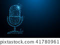 Microphone form lines and particle style design 41780961