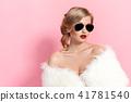 woman, female, fur 41781540
