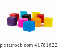 colorful toy blocks, 41781622