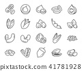 Nuts, seeds and beans icon set. 41781928