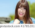 인물 모델 맑은 하늘 41785201
