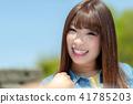인물 모델 맑음 41785203
