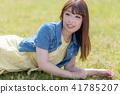 인물 모델 잔디 41785207