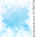Winter,  blue, snowflakes background.   41786716