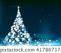 Vector Christmas tree greeting card. 41786717