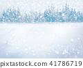 Vector winter snowfall  landscape. 41786719