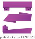 banner, vector, origami 41786723